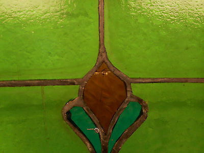 Large Vintage Stained Glass Window Panel (3020)NJ 5