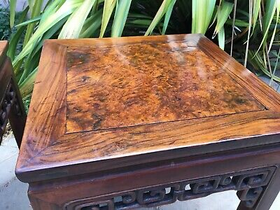2 RARE ANTIQUE CHINESE HUANGHUALI WOOD SIDE TABLE  wood asian art chair 4