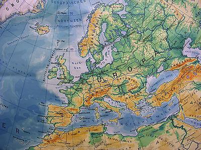 Schulwandkarte schöne alte Nördliche Erdhälfte Arktis 170x177c vintage map ~1957 4