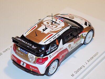 Rally Monte Carlo Ostberg//Andersson 2014 1:43 Ixo Citroen DS3 WRC #4