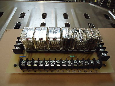 Pcb(Circuit Board)28671 With 6 Allen Bradley Cat.# 700-Hc24A1 3