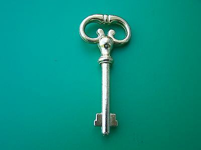 Keys, Antique Style Key, Cabinet Lock Keys, Brass, Two Bitted For Desk Locks