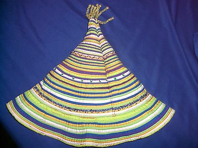 Womens Ladies Unique Party Sun Hat - Colourful Pixie Pointy Funky Hippy Design 2