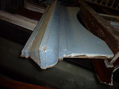 "c1880 arched AMAZING blue victorian ARCHITECTURAL HEADER pediment 48"" x 17"" 7"