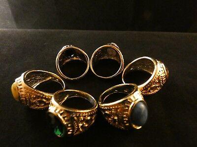 Großer Prunk Fingerring Damenring Ring Schmuckmetall Steinbesatz Barock Stil