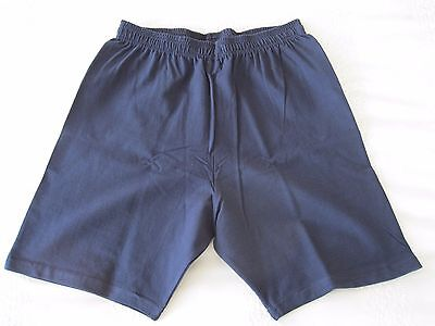 "Girls/Ladies Cycle Shorts NAVY size L (34-36"" Waist) Cotton/Elastane UK Made NEW 4"
