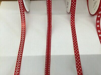 Decorative Ribbon Christmas Ribbon Various Selection  Sold by the metre Red 3