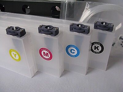 4 bottles,8 Cartridge Bulk Ink Supply System For Roland FH-740 / XF-640 / XR-640 5