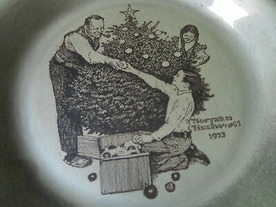 """Sterling 925 PLATES NORMAN ROCKWELL CHRISTMAS FRANKLIN MINT 8"""" -1971/75 - PICK 1 9"""