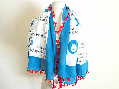 SIR ALISTAIR RAI Evil Blue Eye Lucky Charm Sand Scarf Protects from Bad Karma