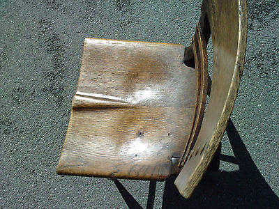 chaise moderniste art deco style metal riveté chene estampille SAINT GENIS LAVAL