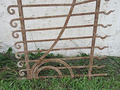 Antique Victorian Iron Gate Window Garden Fence Architectural Salvage Door #71 2