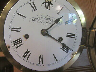Brass Ships Clock By Whyte Thompson & Co Glasgow 3