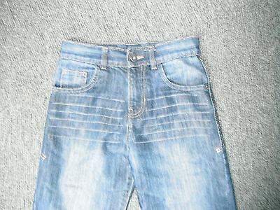 "Matalan Straight Leg Jeans Waist 27"" Leg 25"" Faded Dark Blue Boys 11Yrs Jeans 2"