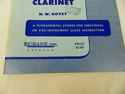 Rubank Elementary Method Clarinet Learn to Play Clarinet Vintage Library No 34 4