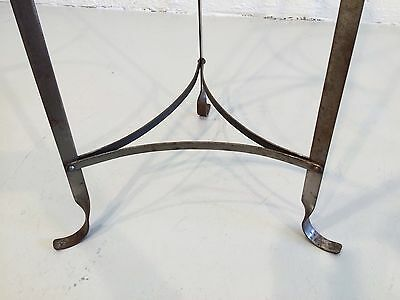 industrial hand-forged plant stand mixing bowl rack shelf 1930s metal 4