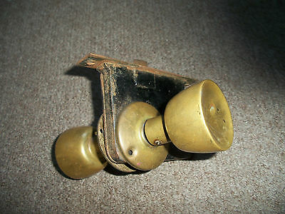 Vintage Antique Door Lock With 2 Brass Knobs Handles 5