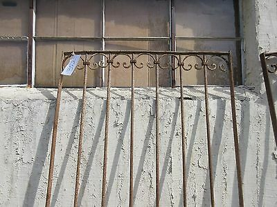 Antique Victorian Iron Gate Window Garden Fence Architectural Salvage Door #352 2
