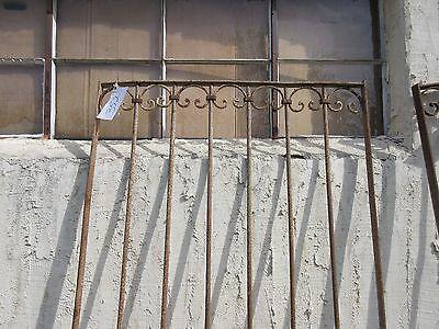 Antique Victorian Iron Gate Window Garden Fence Architectural Salvage Door #352 2