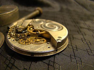 Vintage Elgin Car Clock Pocket Watch Long Stem Case Face Glass Parts or Repair 11