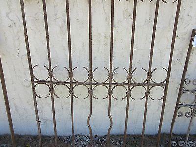 Antique Victorian Iron Gate Window Garden Fence Architectural Salvage Door #389 3