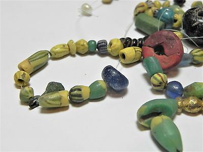 Zurqieh -Af1812-  Ancient Egypt. Lot Of Beads, Mostly Glass, Mostly Roman. 200 A 2