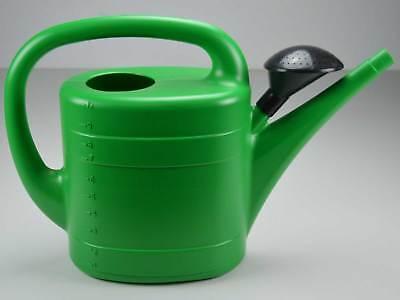 Gießkanne 5 L Blumengießkanne Kunststoff Kanne Gartengießkanne Grün mit Brause
