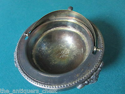 "Rogers  Silverplate Butter/Caviar dish with Roll Top Dome Silver Plate,5""[a*4met"
