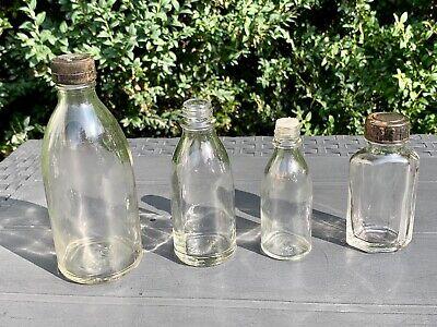8x alte Apothekerflaschen vor 1945 Wehrmacht Lazarett Gerresheimer Glas AG 8