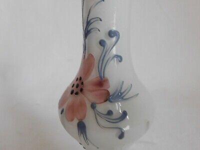 kleiner vase Knospenvase aus Glas Dekor Blumenmuster emailliert Murano ? 7