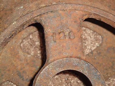 Vintage Farm Equipment Steel Wheel Man Cave Decor  Roller Dirt Packer 2
