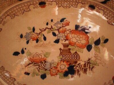 "Antique 1902 ""Peel"" Soho Pottery Limited Cobridge England Serving Platter 5"