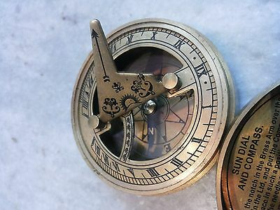 Antique Solid Brass Sundial Compass Marine Compass The Mary Rose 5 • CAD $24.24