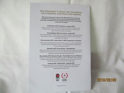 England v Wales. Rugby Union. Twickenham. Programme + Event Tickets. 8