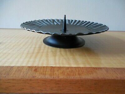 Retro, Arts & Crafts Style, German, Hand Crafted, Footed Candle Plate 2