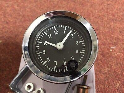 smiths 52mm  black faced car clock mini etc BS3-2
