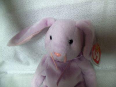 TY Beanie Babies Purple Rabbit  ** FLOPPITY ** 5th Generation New w/ Tag