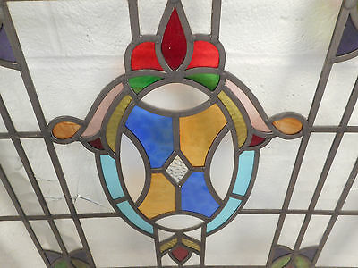 Vintage Stained Glass Window Panel (3035)NJ 4
