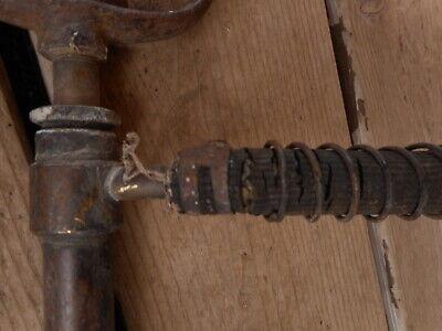 Vintage Antique Hand Pump Rare Cast Tool Farm Salvaged Barn Fresh non working 5