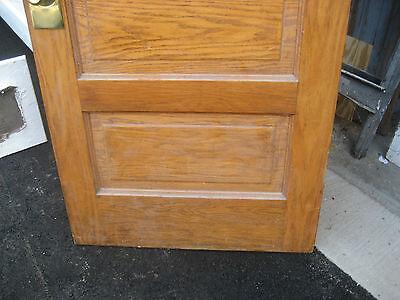 """circa 1900 SOLID oak PANELED door CHICAGO brownstone 83.5"""" x 32"""" x 1.75"""" 6"""