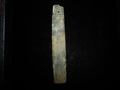 Pre-Columbian Jade Celt Pendant, Very Large, Translucent Jade 2