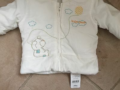 BNWT Baby's Winter Coat Age 3-6m With Integral Scratchmitts From Mothercare 2