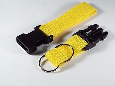 Police Security Twin Split Ring Belt Loop Side Release Key 25 mm Strap UK Made 5