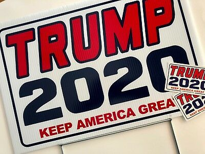 Trump 2020...Keep America Great ! ...Campaign.. Yard Sign with Stake + 2 Decals 2