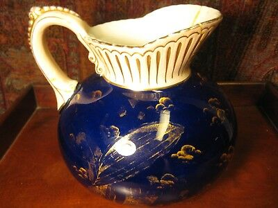 Antique Ott & Brewer Cobalt Pitcher And Soap Dish Trenton Nj Usa C1870 2 Items 3