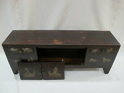 A Chinese Antique Brown Color Wood Kang Low / TV display Table / Stand 39'' Wide 3