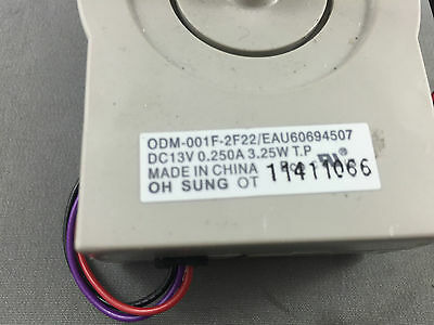Genuine LG Fridge Evaporator Fan MotorL SC26905SB, LSC26905SW  LSC26905TT LSC279 2