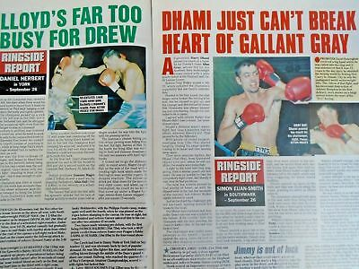BOXING NEWS - 2nd oct 1998 - herbie, paul, lewis holyfield, naz free p&p to uk 5