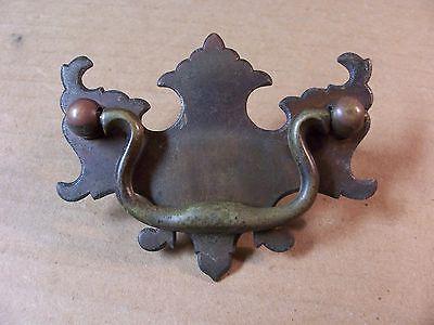 (10) Antique Brass Drawer Pulls / Handles -- Solid Brass -- W/ Original Screws 4