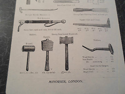 CELLARMEN'S TOOLS Images Copy Print Lumley + Co Minories London #281 3